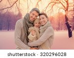 Family Outdoors In Winter...