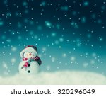snowman  for card or background