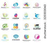 vector logo collection people... | Shutterstock .eps vector #320303060