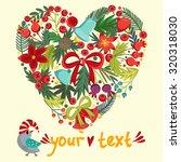 vintage christmas illustration...   Shutterstock .eps vector #320318030