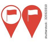 flag icon. location marker...