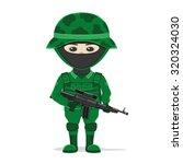 vector illustration. soldier on ...   Shutterstock .eps vector #320324030