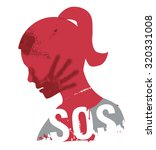 sos violence against woman.... | Shutterstock .eps vector #320331008