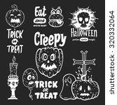halloween design element set | Shutterstock .eps vector #320332064