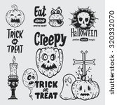 halloween design element set | Shutterstock .eps vector #320332070