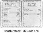 funny menu depicting different... | Shutterstock . vector #320335478