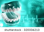 digital illustration of  mouth... | Shutterstock . vector #320336213