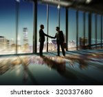 2 multi ethnic businessmen... | Shutterstock . vector #320337680
