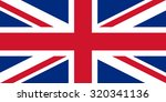 united kingdom flag | Shutterstock . vector #320341136