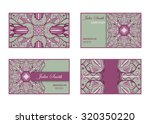 collection of business cards... | Shutterstock .eps vector #320350220
