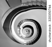 black and white abstract spiral ... | Shutterstock . vector #320350766