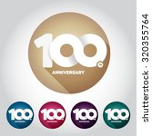 100th anniversary with an... | Shutterstock .eps vector #320355764