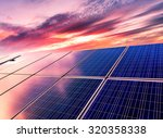 wind turbines and solar panels. ... | Shutterstock . vector #320358338