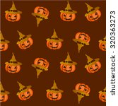 halloween candy pumpkin vector... | Shutterstock .eps vector #320363273