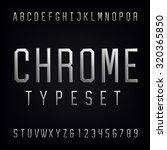 chrome alphabet font. type... | Shutterstock .eps vector #320365850
