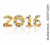 Small photo of new year 2016 design by gems