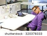 man office worker relaxing neck ... | Shutterstock . vector #320378333
