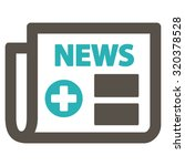 medical newspaper vector icon.... | Shutterstock .eps vector #320378528