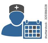 doctor calendar vector icon.... | Shutterstock .eps vector #320386028