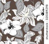seamless flower background  ... | Shutterstock .eps vector #320389298
