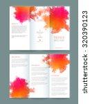 stylish trifold brochure  flyer ... | Shutterstock .eps vector #320390123