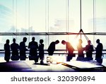business people meeting bowing... | Shutterstock . vector #320390894