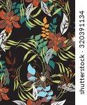 seamless flower background  ...   Shutterstock .eps vector #320391134