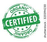 organic certified green rubber... | Shutterstock . vector #320394230