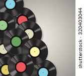 black vinyl records isolated on ... | Shutterstock .eps vector #320403044