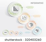 template infographic with... | Shutterstock .eps vector #320403260