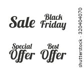 sale icons. best special offer... | Shutterstock .eps vector #320404070