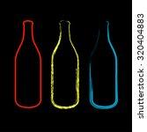 bottles sketched  | Shutterstock .eps vector #320404883