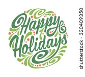 holidays greeting card with...
