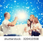 family  holidays  christmas... | Shutterstock . vector #320410508