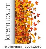 autumn leaves with text  | Shutterstock .eps vector #320412050