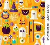 orange halloween trick or treat ... | Shutterstock .eps vector #320413700