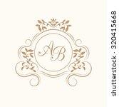 elegant floral monogram design... | Shutterstock .eps vector #320415668