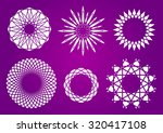 abstract geometrical flowers | Shutterstock .eps vector #320417108