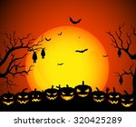 halloween background | Shutterstock .eps vector #320425289