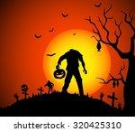halloween background   Shutterstock .eps vector #320425310