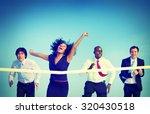 businesswoman winning... | Shutterstock . vector #320430518