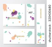 set of abstract creative ... | Shutterstock .eps vector #320430680