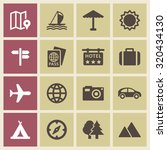 tourism vector set | Shutterstock .eps vector #320434130