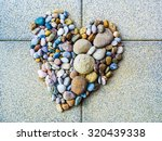 Heart Made Of Pebbles  Symbol...