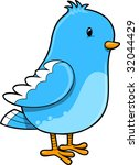 blue bird vector illustration | Shutterstock .eps vector #32044429