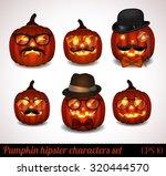halloween pumpkin hipster icon... | Shutterstock .eps vector #320444570