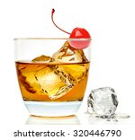 manhattan cocktail isolated on... | Shutterstock . vector #320446790