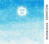 sky blue winter watercolor...   Shutterstock .eps vector #320447246
