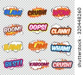 colorful speech bubbles and...   Shutterstock .eps vector #320448260