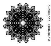 vector beautiful deco black... | Shutterstock .eps vector #320455340